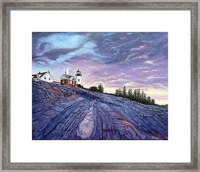 Pemaquid Point Dawn Framed Print