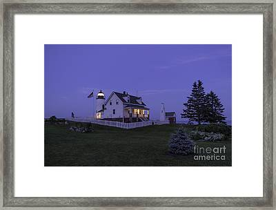 Pemaquid Point Light - Blue Hour Framed Print