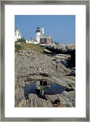 Framed Print featuring the photograph Pemaquid Point Light by ELDavis Photography