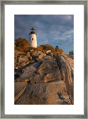 Pemaquid Point Light I Framed Print by Clarence Holmes