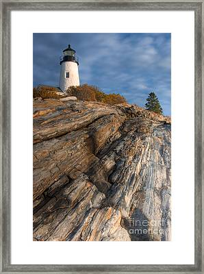 Pemaquid Point Light II Framed Print by Clarence Holmes