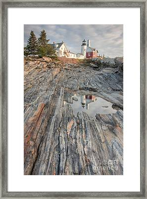 Pemaquid Point Light Iv Framed Print by Clarence Holmes
