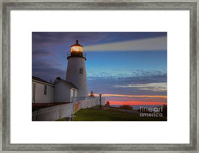 Pemaquid Point Light Viii Framed Print by Clarence Holmes