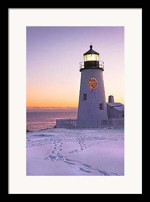 Winter In Maine Framed Prints