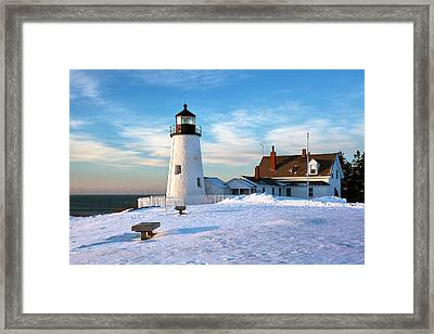 Pemaquid Point Lighthouse Framed Print by Eric Gendron