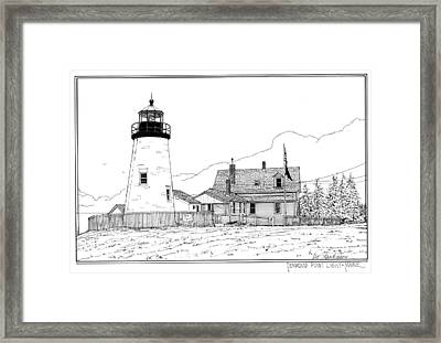 Pemaquid Point Lighthouse Framed Print by Ira Shander