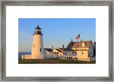 Pemaquid Point Lighthouse Maine Framed Print by John Burk