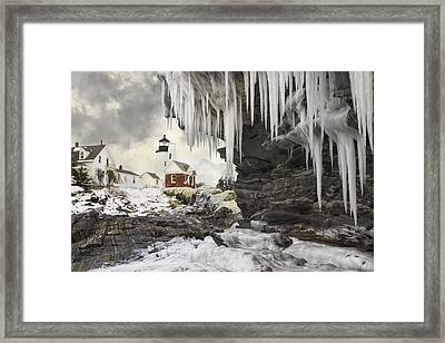 Pemaquid Point Lighthouse On The Maine Coast Framed Print by Keith Webber Jr