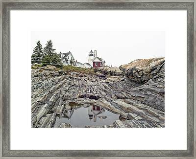 Framed Print featuring the photograph Pemaquid Point Lighthouse by Richard Bean