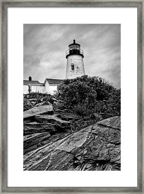 Pemaquid Point Framed Print by Nikolyn McDonald