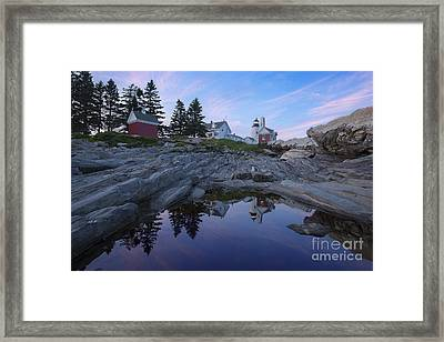 Pemaquid Point Reflections Framed Print