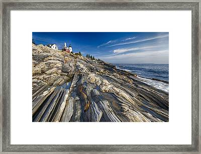 Pemaquid Point Scenic Maine Framed Print by George Oze