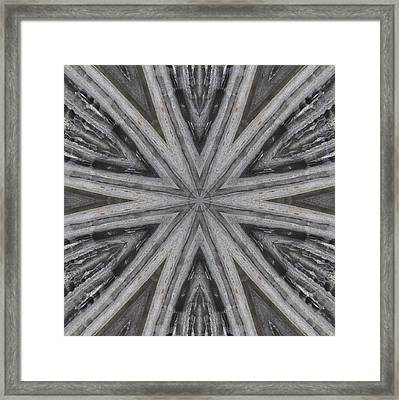 Framed Print featuring the digital art Pemaquid Rock Five by Trina Stephenson