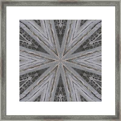 Framed Print featuring the digital art Pemaquid Rock Four by Trina Stephenson