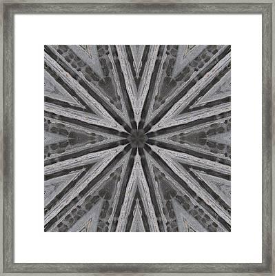 Framed Print featuring the digital art Pemaquid Rock One by Trina Stephenson