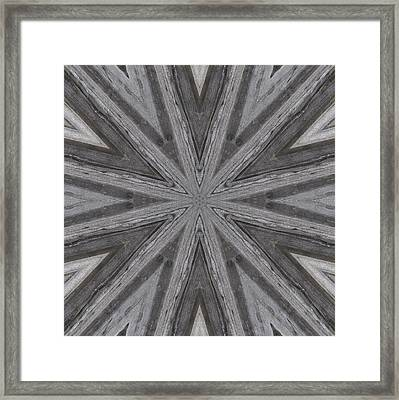 Framed Print featuring the digital art Pemaquid Rock Three by Trina Stephenson