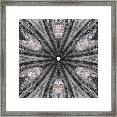 Framed Print featuring the digital art Pemaquid Rock Two by Trina Stephenson