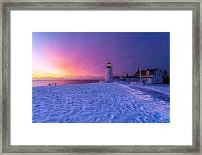 Pemaquid Sunrise Framed Print by Don Seymour