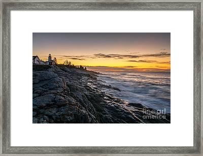 Pemaquid Sunrise Framed Print by Scott Thorp