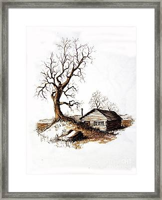 Pen And Ink 1 Framed Print