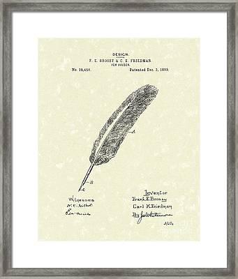 Pen Holder 1889 Patent Art Framed Print