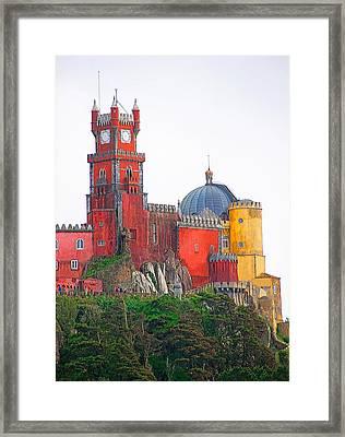 Pena Castle Framed Print by Dennis Cox WorldViews