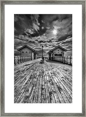Penarth Pier 2 Monochrome Framed Print
