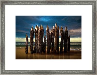 Pencil Beach Framed Print by D.a.wagner
