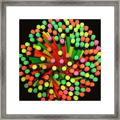 Pencil Blossom Framed Print