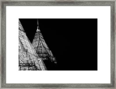 Pencil Building In Duplicate Framed Print by Lisa Marie Pane