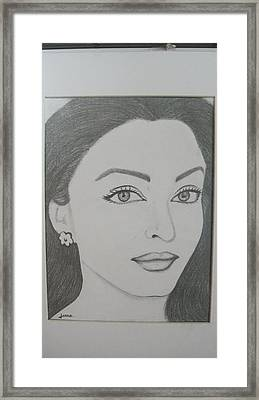 Pencil Drawing Framed Print by Rejeena Niaz