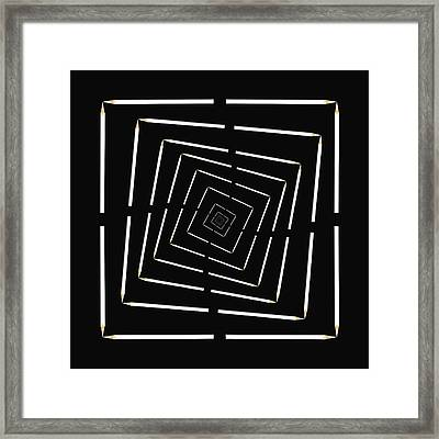 Pencil Infinity Framed Print