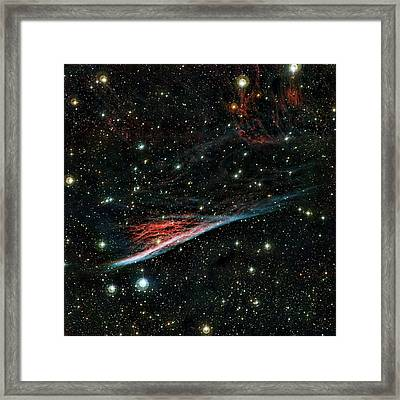 Pencil Nebula Framed Print