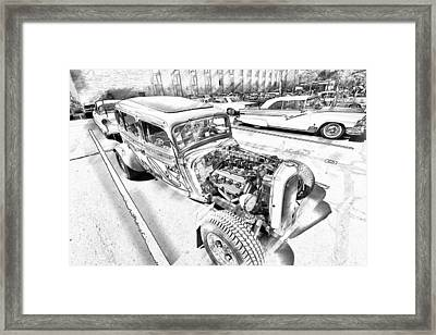 Pencil Rod Framed Print