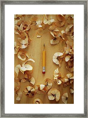 Pencil Sharpened Down To A Stub Framed Print by Joseph Clark