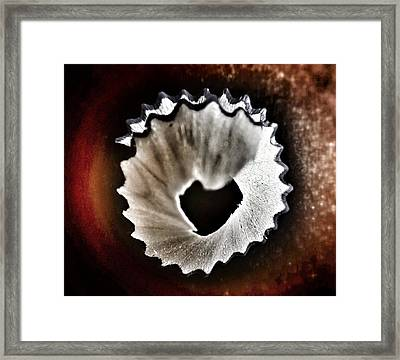 Pencil Shaving Heart Framed Print by Marianna Mills