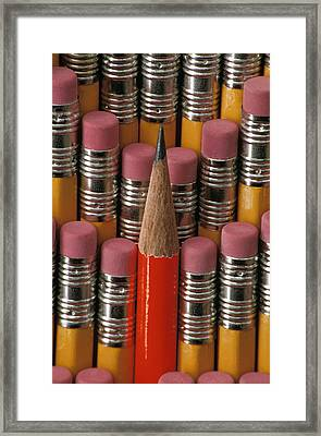 Pencils Framed Print by Anonymous