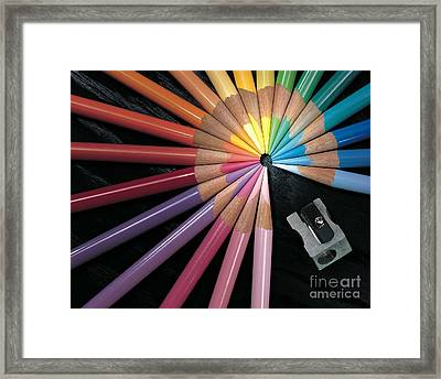 Pencils Framed Print by Gary Gingrich Galleries