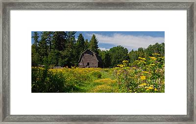 Pend Oreille Barn Framed Print
