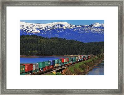 Pend Oreille Freight Framed Print by Benjamin Yeager
