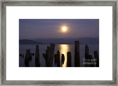 Pend Oreille Moon Framed Print