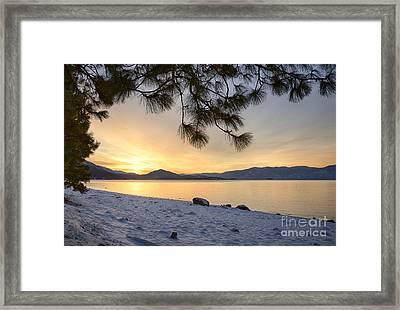 Pend Oreille Sunrise Framed Print
