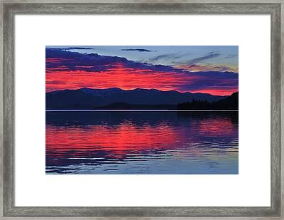Pend Oreille Sunset Framed Print
