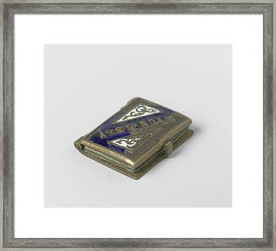 Pendant In The Form Of A Book Framed Print by Artokoloro