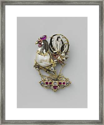 Pendant In The Form Of A Cock, Anonymous Framed Print by Quint Lox