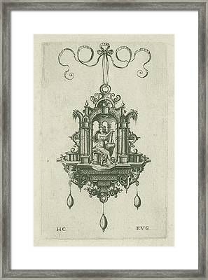 Pendant Pendeloque With Fortitudo Framed Print by H. Collaert