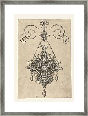 Pendant Which A Goddess With Laurel, Anonymous Framed Print by Anonymous And Hans Collaert (i) And Philips Galle