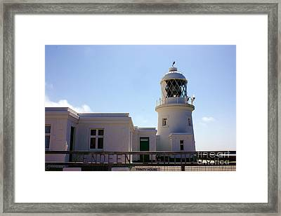 Pendeen Lighthouse Cornwall Framed Print by Terri Waters