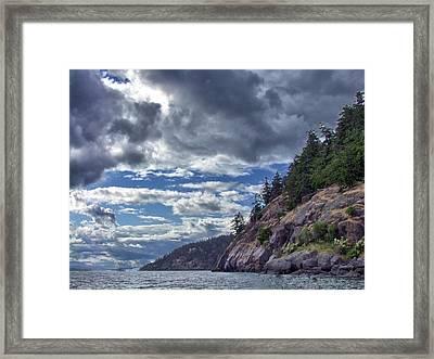 Pender Island Bluffs Framed Print