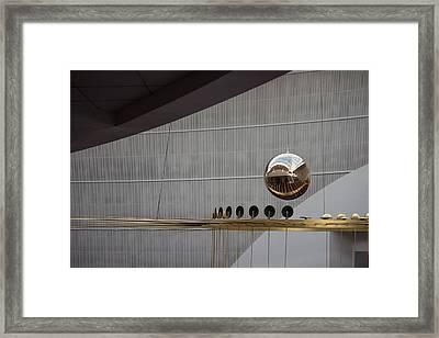 Framed Print featuring the photograph Pendulum Sculpture by Patricia Babbitt